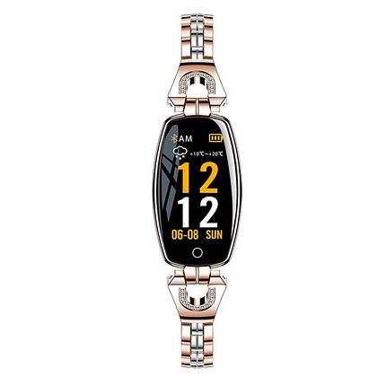 Розумний браслет Smart band H8 Luxury Waterproof IP67 Gold, фото 2
