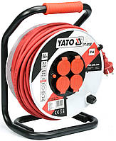 Удлинитель электрический на катушке YATO 50 м 2.5 мм² 4 гнезда 3-жильный