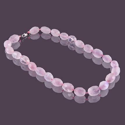 Намисто sherl 50 см Рожевий кварц (бс-рзк-149), фото 2