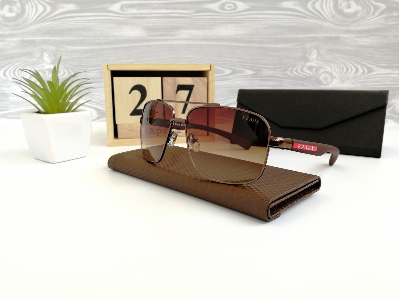 Очки мужские солнцезащитные Prada. Стильные мужские очки.