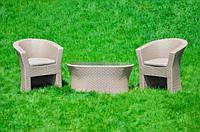 Комплект из искусственного ротанга Iziuminka Tvin, мебель из искусственного ротанга, комплект из ротанга
