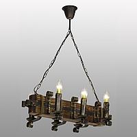 Люстра подвесная 6 свечей Е14 серии Ковка Свеча 690326