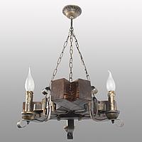 Люстра подвесная 3 свечи Е14 серии Ковка Свеча 760323