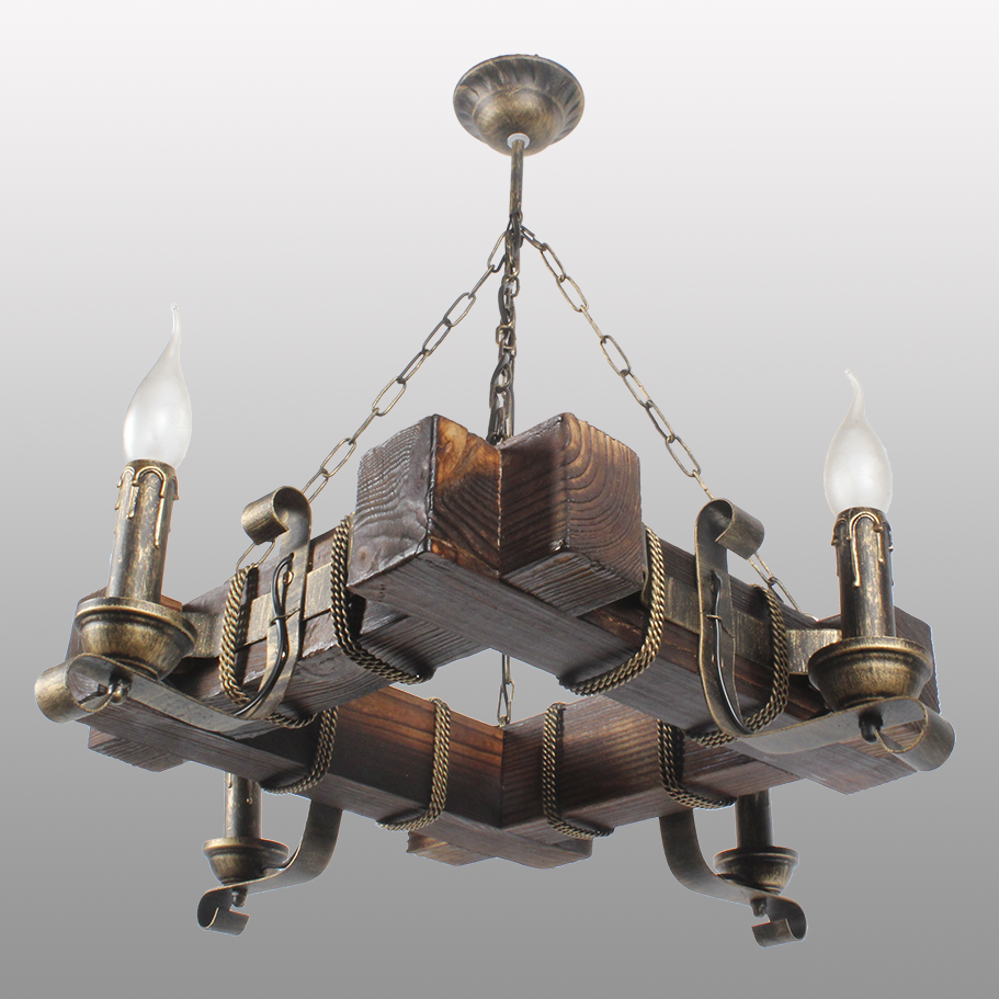Люстра подвесная 4 свечи Е14 серии Ковка Свеча 770324