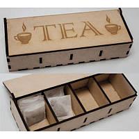 Деревянная шкатулка для чая