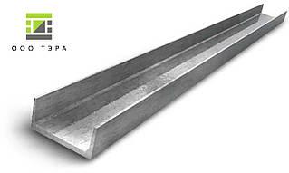 Швеллер алюминиевый 20 х 20 х 2 мм 6060 (АД31Т) профиль прессованный