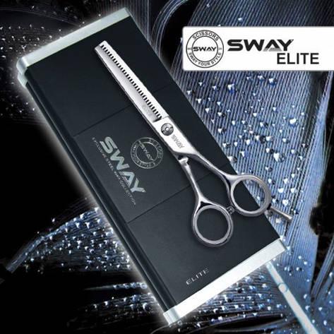 Ножницы для стрижки Sway 110 26155 Elite 5,5 филировочные, фото 2