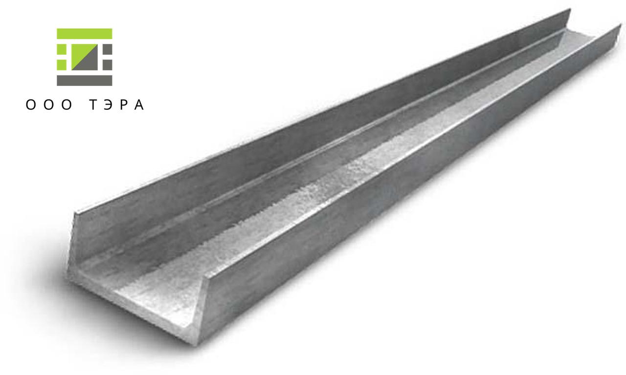 Алюминиевый швеллер 30 х 30 х 3 мм п-образный профиль АД31Т (6060 Т6) прессованный