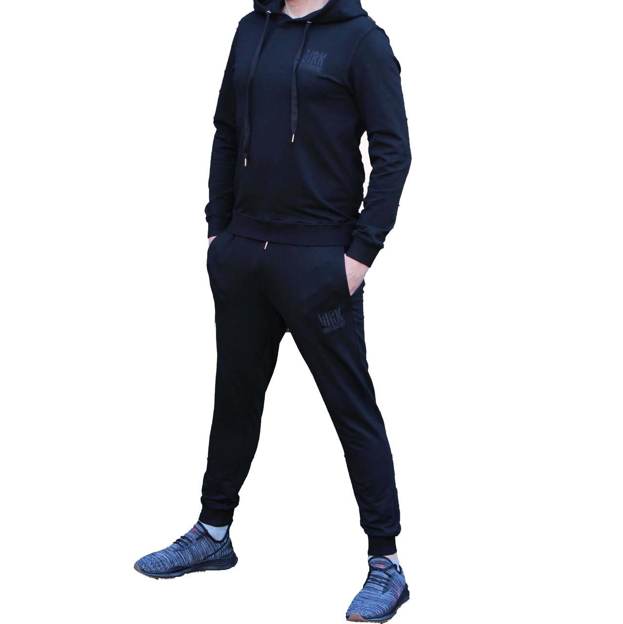 Черный спортивный костюм Bikkemberg кенгуру с штанами на манжетах 52 размер (Реплика)