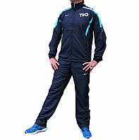 Чёрный мужской спортивный костюм плащевка T90 46 размера (Реплика)