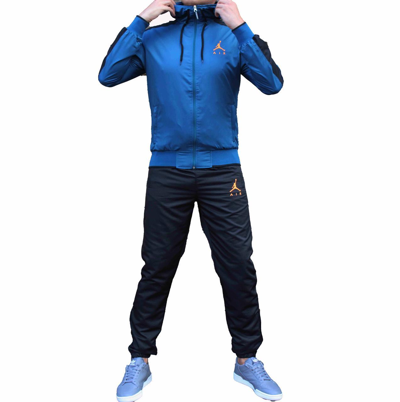 Мужской болоневый спортивный костюм Jordan c капюшоном 44 размер (Реплика)