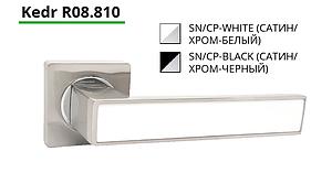 Комплект дверных ручек ТМ Кедр 08.810 Black & White