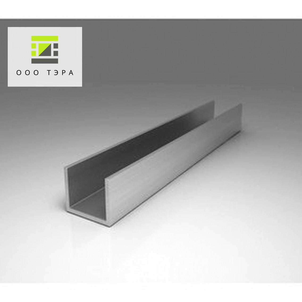 Швеллер алюминиевый 60 х 40 х 3 мм 6060 Т6 профиль п-образный АД31Т, прессованый