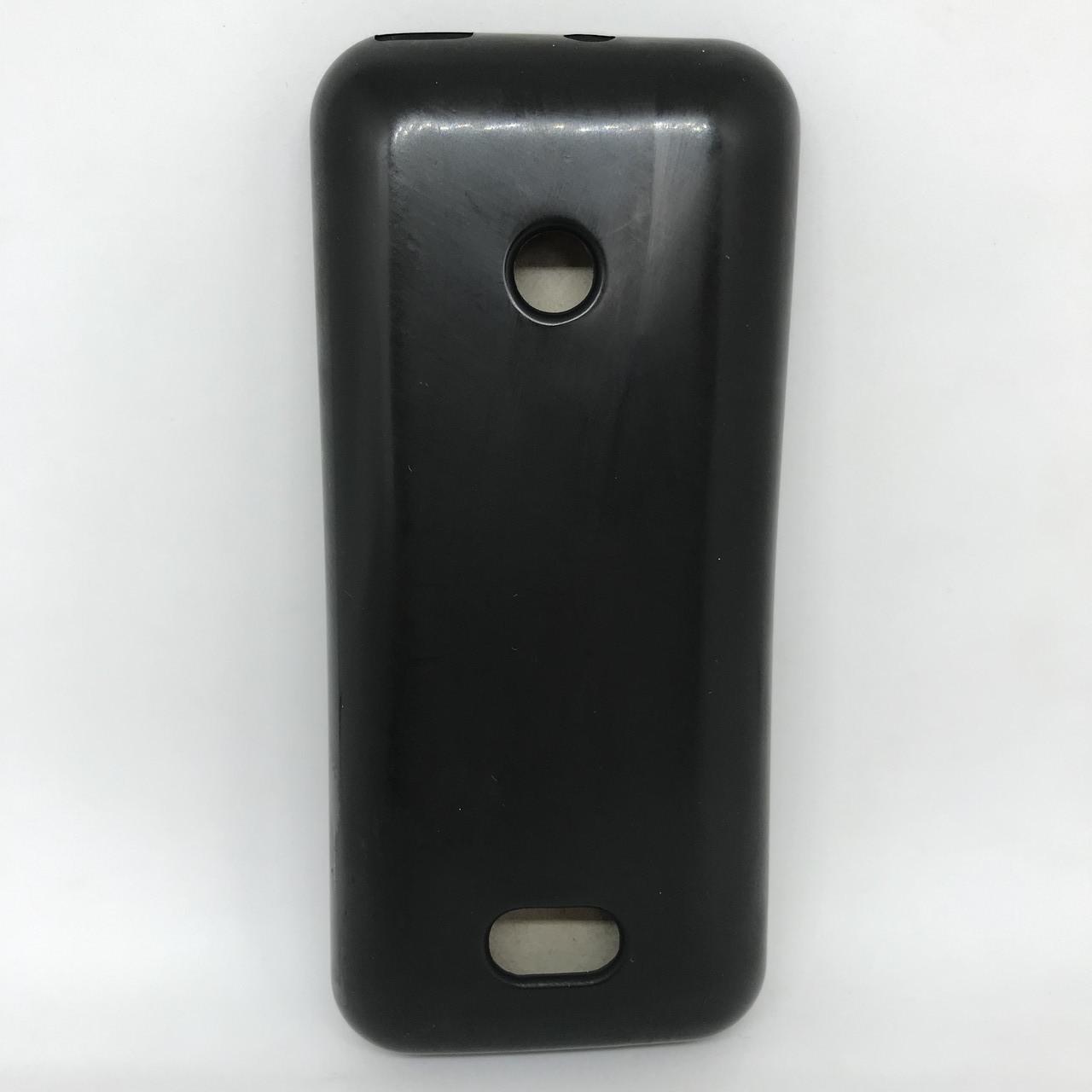 Чехол-накладка silicone Nokia N208 черный