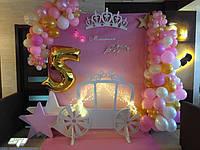 Аксессуары: кареты, замки , короны, декор для фотозон, фотозоны для детских праздников