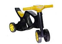 Беговел без звука Doloni Toys Желтый/Черный (0136/03)