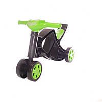 Беговел без звука Doloni Toys Зеленый/Черный (0136/01)