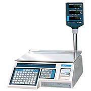 Весы с печатью этикеток CAS LP-R (в. 1.6) RS-232 со стойкой (6 кг, 15 кг, 30 кг)