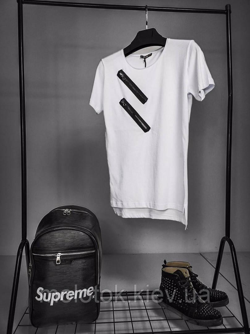Мужская футболка белая с принтом ЛЮКС качества