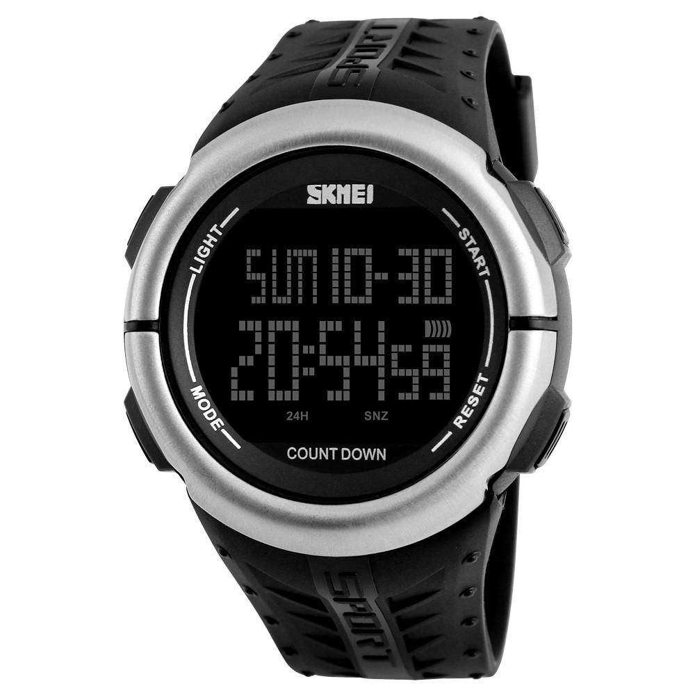 Skmei 1286 Черные  мужские  спортивные часы