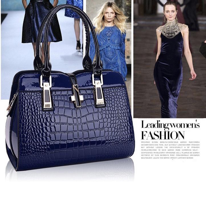 Женская стильная лаковая сумка. Модель 449