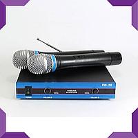 Микрофон караоке беспроводной 2 шт радиосистема Evolution Wireless DM EW-100