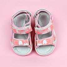 Босоножки спортивные на липучках девочке Розовая Пудра Том.м размер 23, фото 3