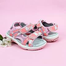 Босоножки спортивные на липучках девочке Розовая Пудра Том.м размер 23, фото 2