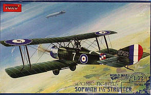 Sopwith 1 Strutter Comic fighter. Сборная модель истребителя-биплана в масштабе 1/72. TOKO 140