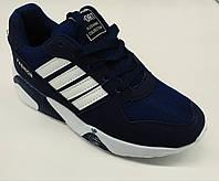 Кроссовки синие ,шнурки ,сетка+замш OK SHOES р 38-39-40
