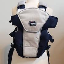 Ерго нагрудна рюкзак-кенгуру для немовлят Chicco Ultrasoft Magic Синій з сірим (1120710703), фото 2