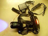 Ліхтарик BL-2199-B налобний синій для рибалки