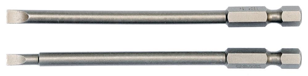 """Насадка викрутки YATO плоска 1/4"""" SL4/5 х 100 мм 2 шт"""