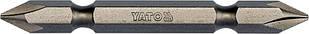 "Насадка отверточная двусторонняя YATO 1/4 ""крестовая PH1-PH1 х 65 мм 10 шт"