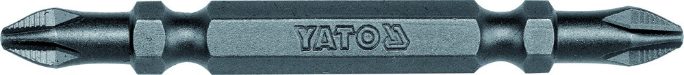 """Насадка отверточная двусторонняя YATO 1/4 """"крестовая PH2-PH2 x 65 мм 50 шт"""