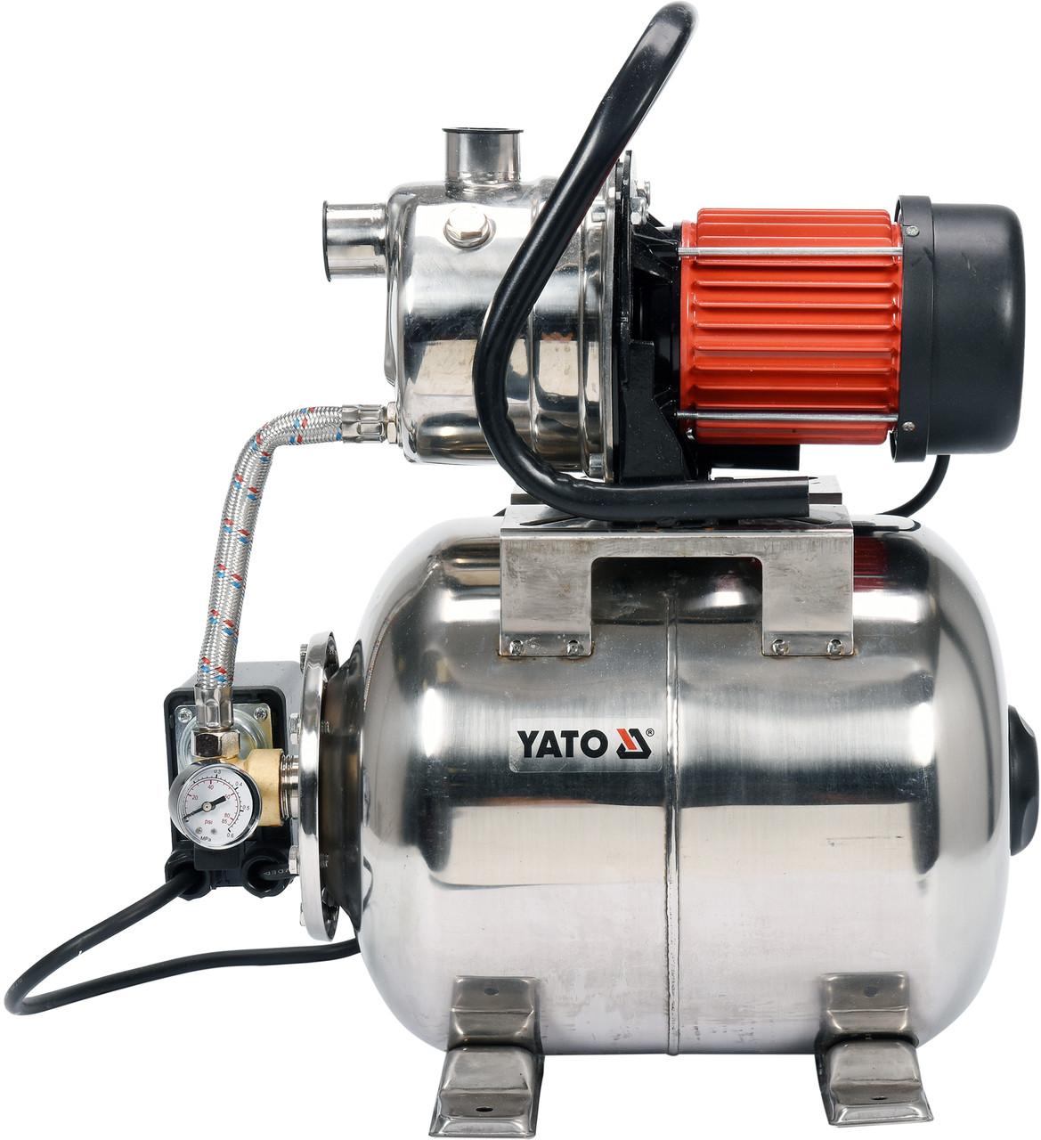 """Насосна станція (Гідрофор) YATO 1200 Вт, 4000 л/год, 1"""", 19 л, глибина- 9 м, висота- 50 м"""