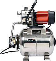 """Насосна станція (Гідрофор) YATO 1200 Вт, 4000 л/год, 1"""", 19 л, глибина- 9 м, висота- 50 м, фото 1"""