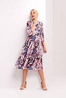 Летнее женское платье А-Силуэта с широкой юбкой