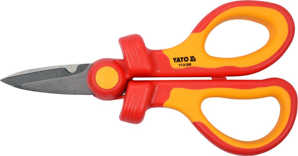 Ножницы универсальные диэлектрические до 1000 В YATO 160 мм