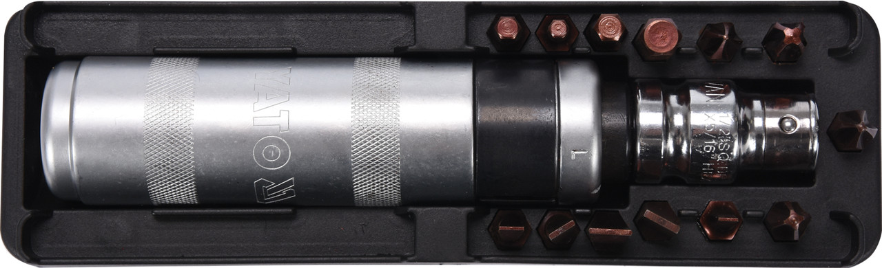 Отвертка-держатель ударная YATO с насадками 15 шт