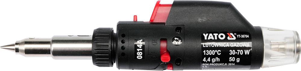 Паяльник газовый 3 в 1 с пьезозапалом YATO 30-70 Вт 350-1300°С