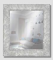 Зеркало настенное в раме Factura Textured silver 46х53 см серебро, фото 1