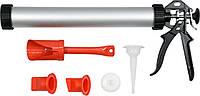 Пистолет для затирки швов YATO 400 мм 1 л со сменными насадками, фото 1