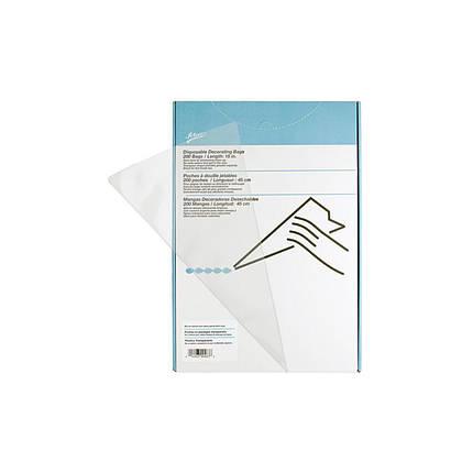 Мешок кондитерский Ateco 45 см одноразовый 200 шт/уп (04028), фото 2