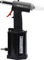 Пневмозаклепочник YATO для заклепок 4, 4.8, 5, 6.4 мм 60 л/мин