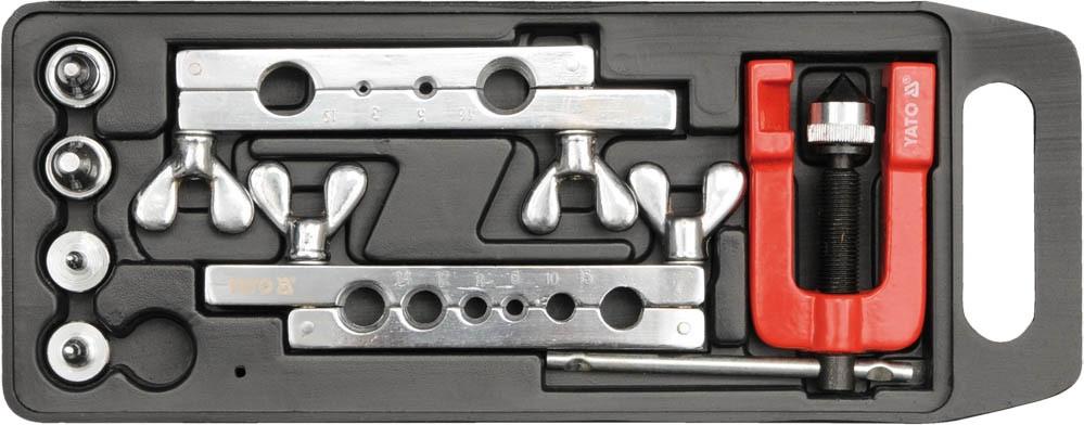 Пресс для ручного расширения труб YATO 3-19 мм с аксессуарами 7 шт