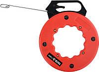 Пристрій для протягування кабелів на бобіні YATO 15.3 м профіль- 3 х 1.5 мм, фото 1