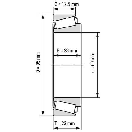 Підшипник 32012 X/QCL7C  (32012 X/CL7C)    SKF, фото 2