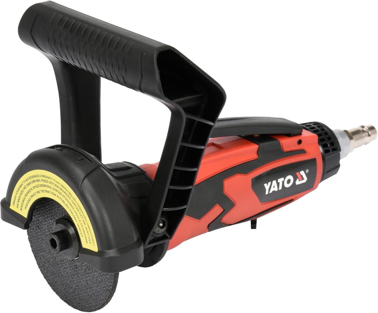 """Резак пневматический YATO 1/4"""" 75 x 9.5 мм 18000 об/мин 170 л/мин"""