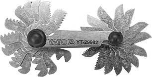 Резьбомер дюймовый 55° YATO 4-62 BSW 28 шаблонов